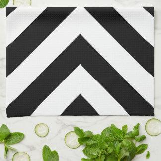 Black and White Chevrons Kitchen Towel