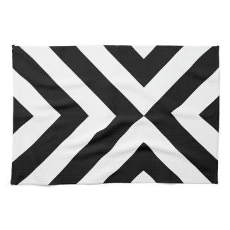 Black and White Chevrons Towel