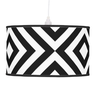 Black and White Chevrons Lamps