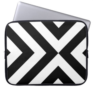 Black and White Chevrons Laptop Sleeve