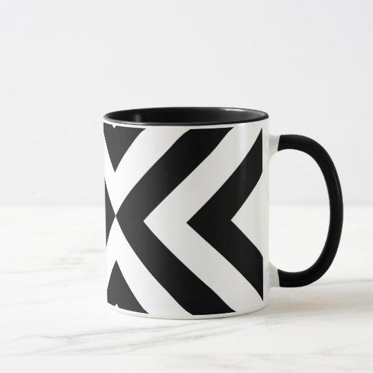 Black and White Chevrons Mug