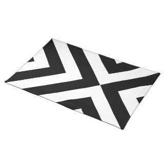 Black and White Chevrons Placemat