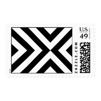 Black and White Chevrons Postage Stamps