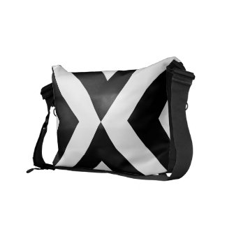 Black and White Chevrons rickshawmessengerbag