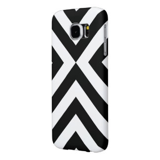 Black and White Chevrons Samsung Galaxy S6 Case