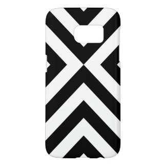 Black and White Chevrons Samsung Galaxy S7 Case