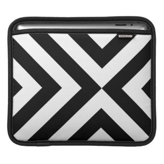 Black and White Chevrons Sleeve For iPads