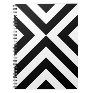 Black and White Chevrons Spiral Notebook