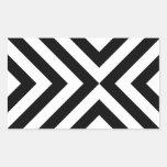 Black and White Chevrons Sticker