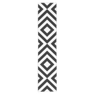 Black and White Chevrons Table Runner