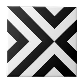 Black and White Chevrons Tile