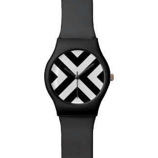 Black and White Chevrons Watches