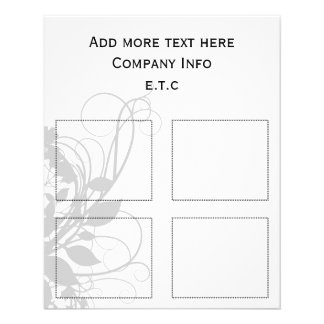 black and white Chic Business coupons Flyer