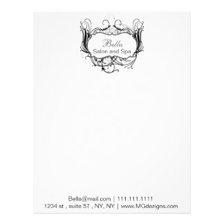 black and white Chic Business letterheads Letterhead