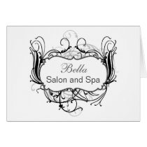 black and white Chic Business Thank You Cards