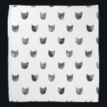 "Black and White Chic Cute Cat Pattern Bandana<br><div class=""desc"">Black and White Chic Cute Cat Pattern</div>"