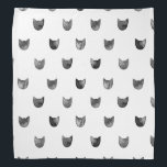 "Black and White Chic Cute Cat Pattern Bandana<br><div class=""desc"">Black and White Chic Cute Cat Pattern</div>"