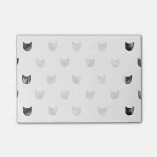 Black and White Chic Cute Cat Pattern Post-it® Notes