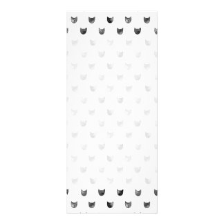 Black and White Chic Cute Cat Pattern Rack Card