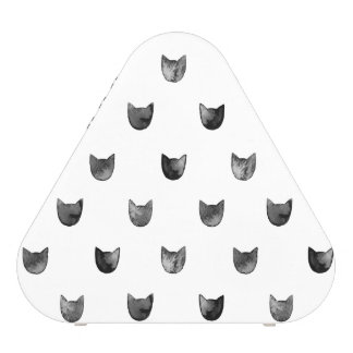 Black and White Chic Cute Cat Pattern Speaker