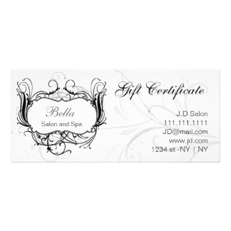black and white Chic Gift Certificates