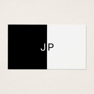 Black And White Chic Simple Design Modern Trendy Business Card