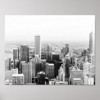 Black and White Chicago Illinois Poster