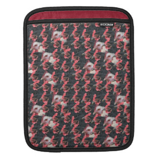 Black and white chicken mix sleeve for iPads