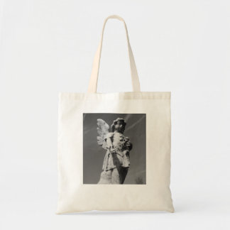 Black and white child angel canvas bag