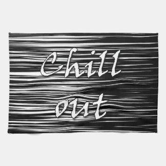 Black and white chill out towel
