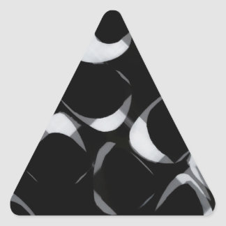 Black and White chips Triangle Sticker