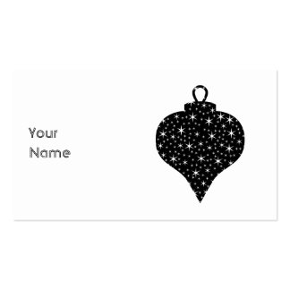 Black and White Christmas Bauble Design. Double-Sided Standard Business Cards (Pack Of 100)