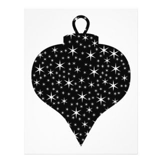 """Black and White Christmas Bauble Design. 8.5"""" X 11"""" Flyer"""