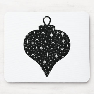 Black and White Christmas Bauble Design. Mouse Pad