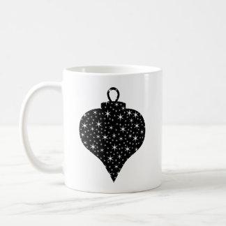 Black and White Christmas Bauble Design. Classic White Coffee Mug