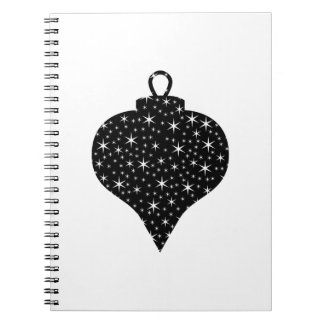 Black and White Christmas Bauble Design. Spiral Note Book