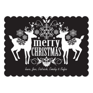 Black and white Christmas design Card