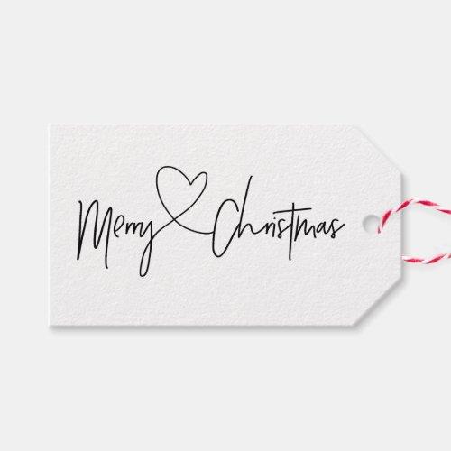 Black and White Christmas Gift Tag Sets
