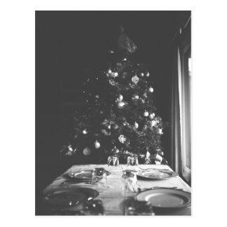 Black and White Christmas Postcard