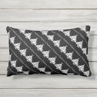 Black and White Christmas Save The Tree Outdoor Pillow