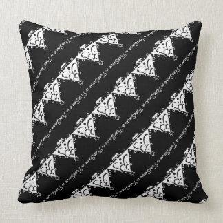 Black and White Christmas Save The Tree Throw Pillow