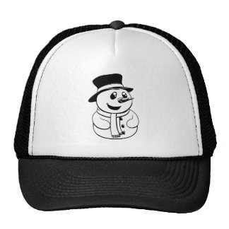 Black and white Christmas Snowman Trucker Hat