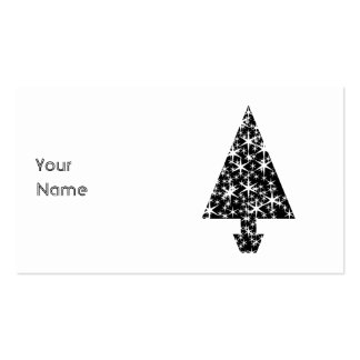 Black and White Christmas Tree Design. Business Card