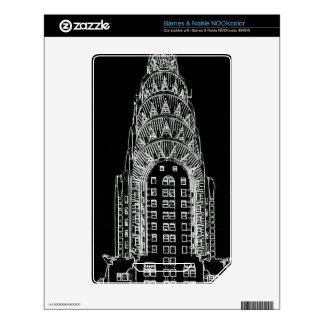Black and White Chrysler Building Skin For NOOK Color