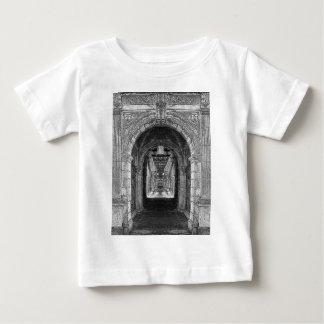 Black And White Church Interior Baby T-Shirt