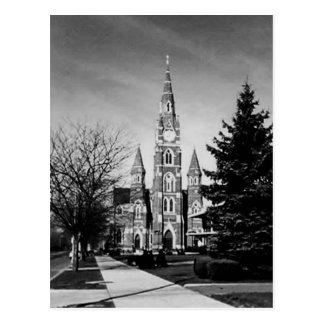 Black and White Church Postcard