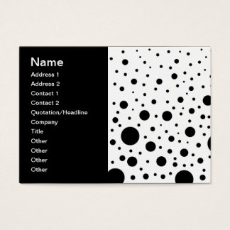 Black and White Circle Design Business Card