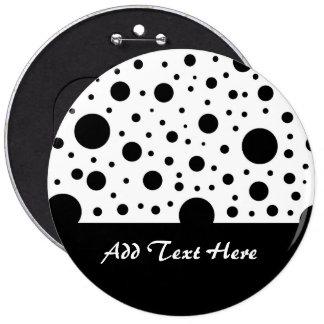Black and White Circle Design Pinback Button