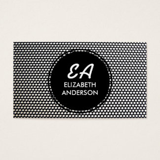 Black and White Circle Pattern Business Cards