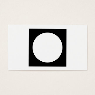 Black and White Circle, Simple Geometric Design. Business Card